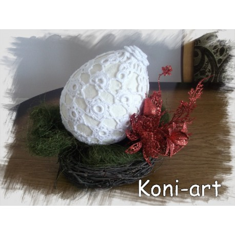 Koronkowe Jajko Wielkanocne Koni-art 001